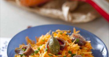 salade de carottes aux anchois
