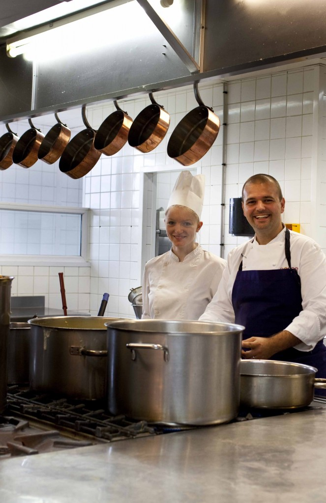 Dorian Wicart en cuisine