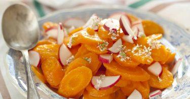 Salade carottes à la fleur de coriandre