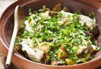 Recette de tajine au poisson, lieu noir et légumes d'été