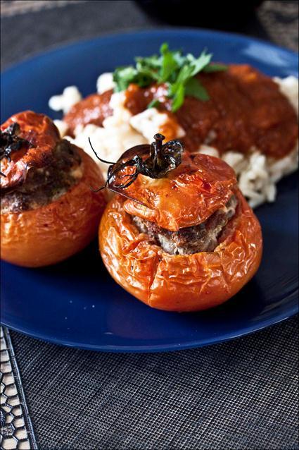 recette de tomates farcies avec le riz autour