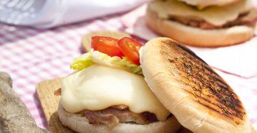 cheeseburger barbecue au Leerdammer, la recette facile à base de jambon et de fromage