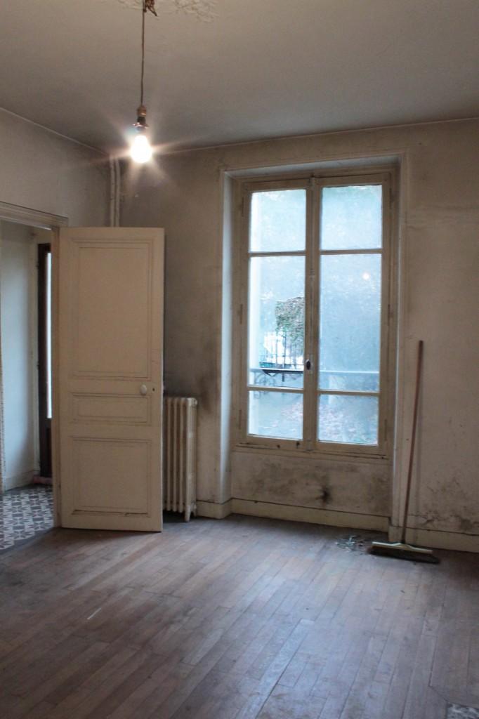 Le salon à l'origine avant travaux