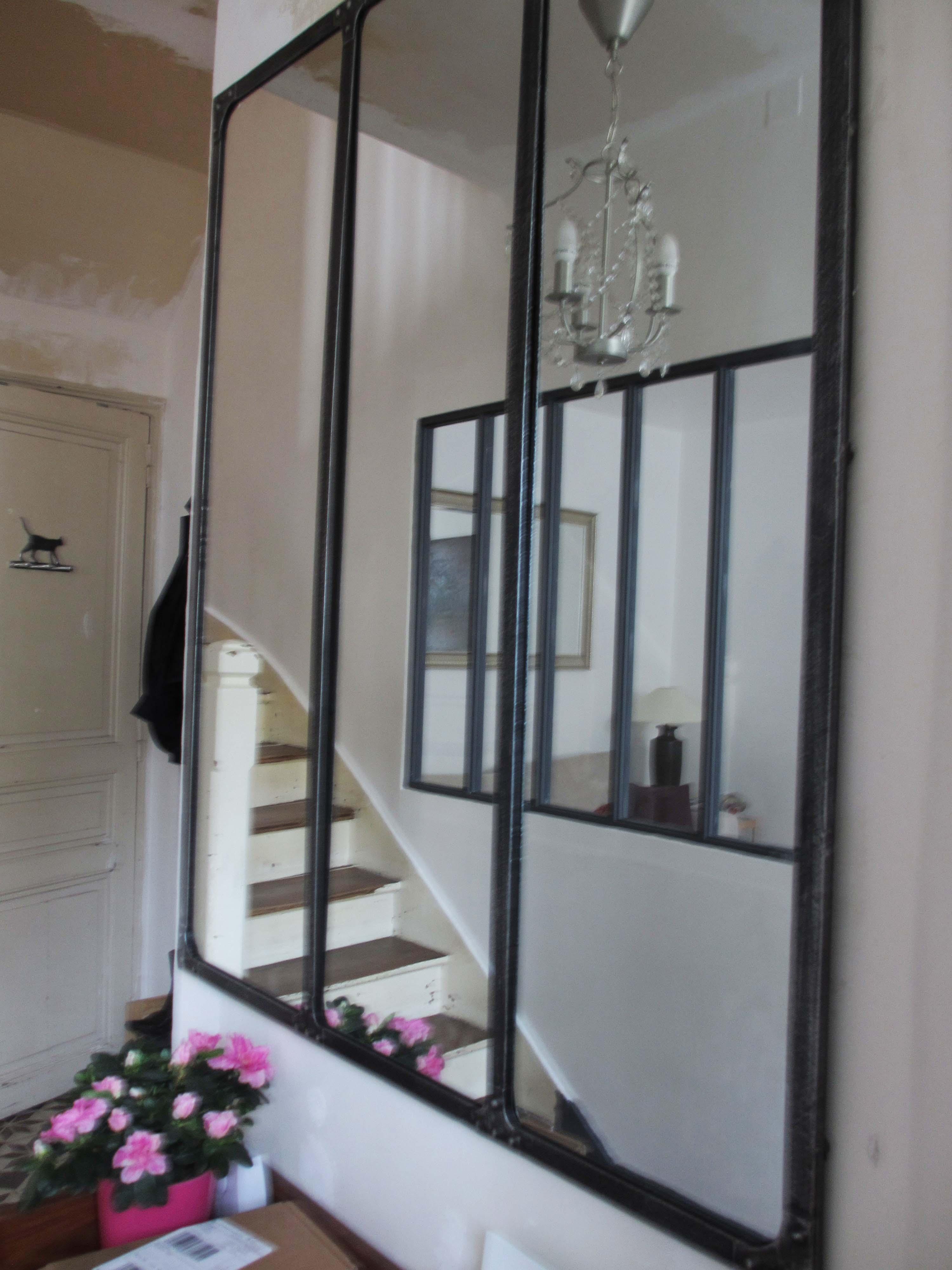 les travaux et on a remis a cr ation d une baie vitr e int rieure dans le salon panier de. Black Bedroom Furniture Sets. Home Design Ideas