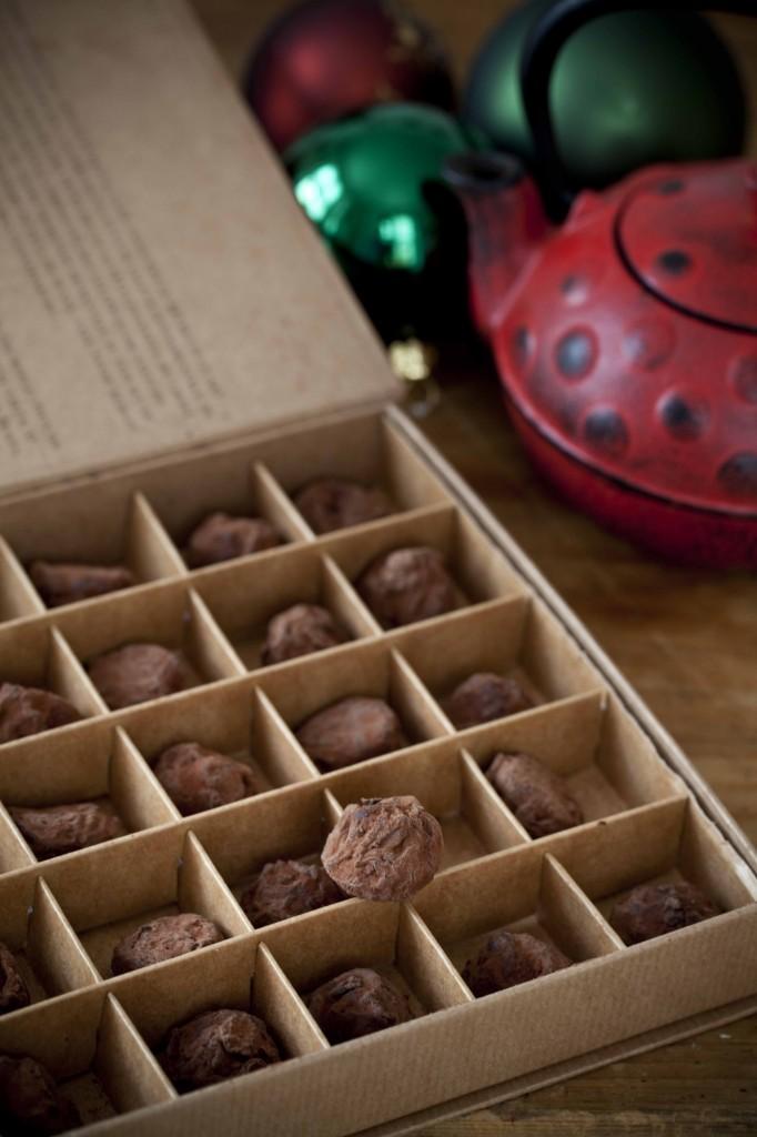 Cadeaux rouges Noël 2014 Café tasse truffes 1