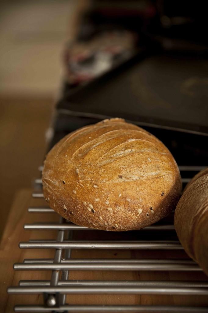 Repas de Noël 2014 pain sortie de four graines de lin 1