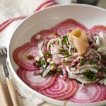 Salade de betteraves, radis noir et truite fumé 11
