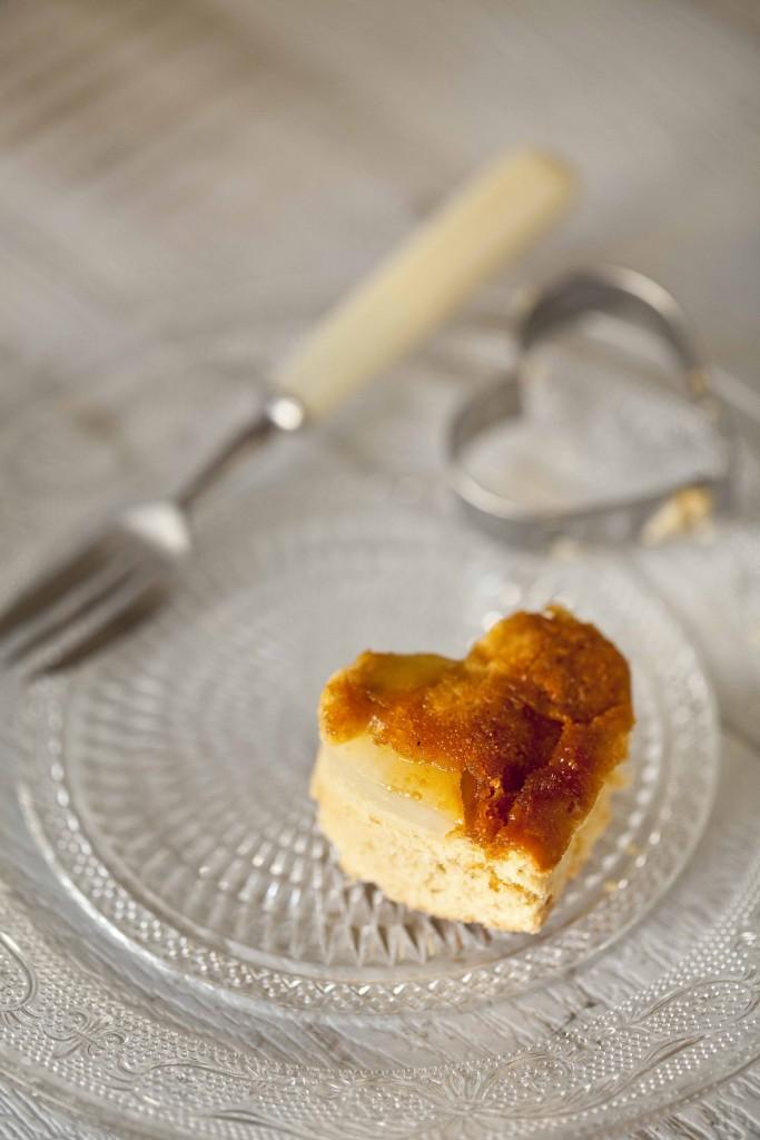 Biscuit poires amandes caramel gingembre coulis de chocolat au Grand-Marnier 11