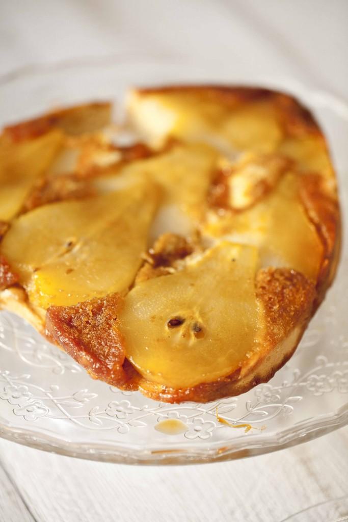 Biscuit poires amandes caramel gingembre coulis de chocolat au Grand-Marnier 21