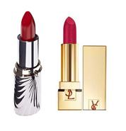 Rouges à lèvres, YSL à gauche, Rouge Baiser à droite