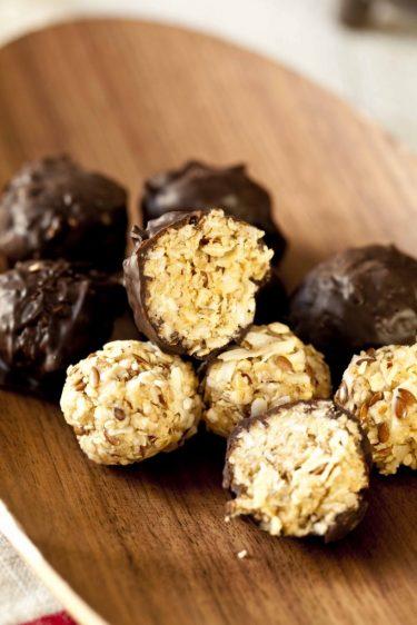 bouchées énergétiques au muesli enrobées de chocolat recette