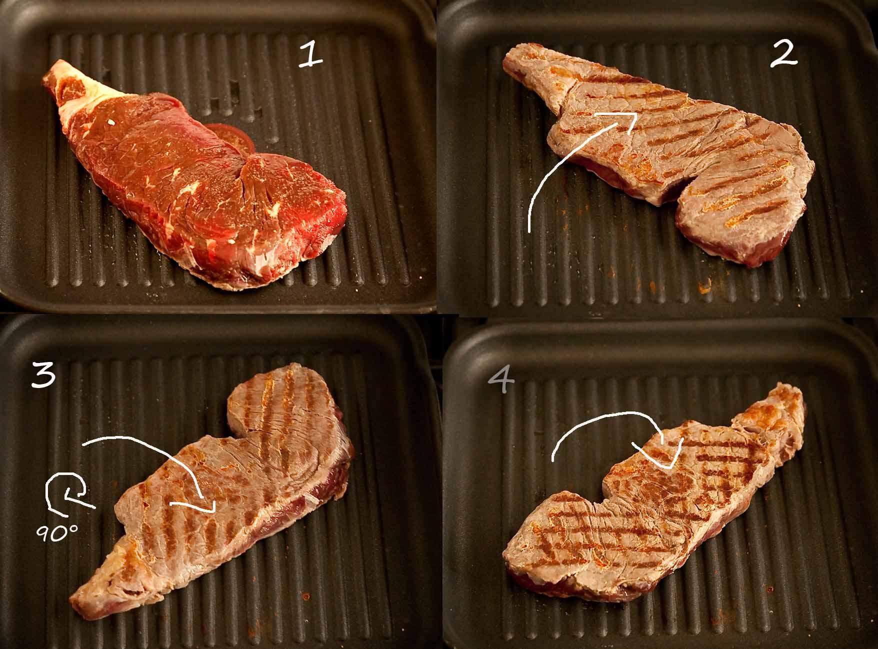 Comment griller la viande en quadrillage comme au resto - Comment cuisiner une entrecote de boeuf ...