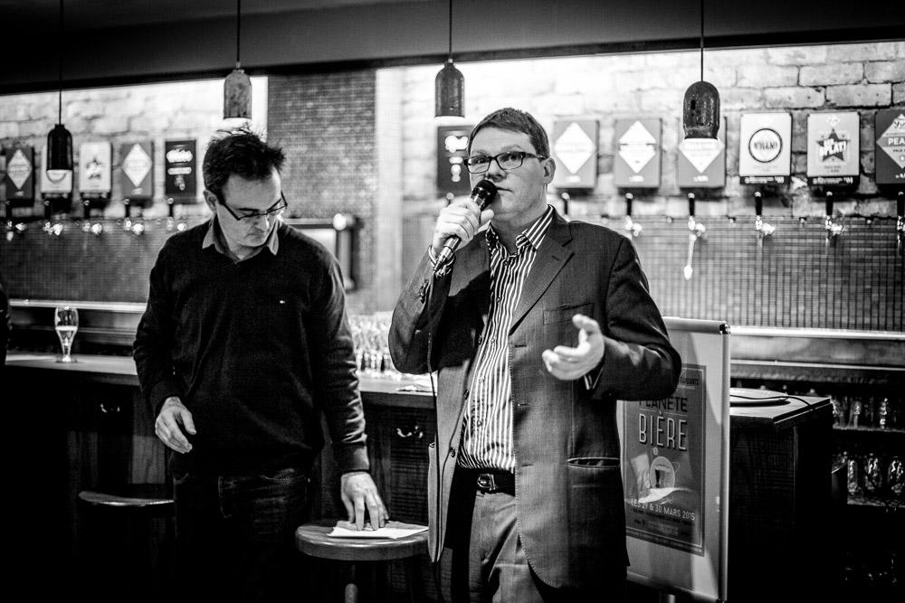 Philippe Jugé & Franck Poncelet, les créateurs du Salon,  lors de la conférence de presse au Frog St Germain