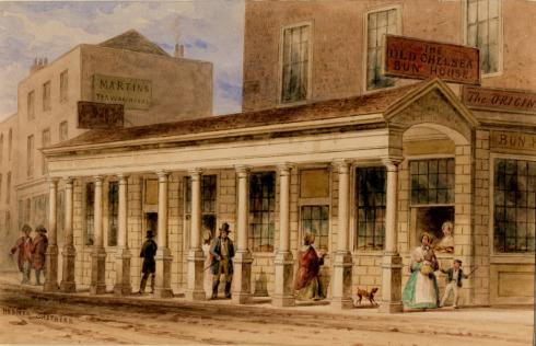 Image ancienne de la Chelsea House au 18 ème siècle