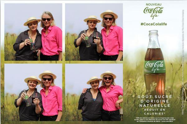 Carte postale du point photo Coca Cola Life Party