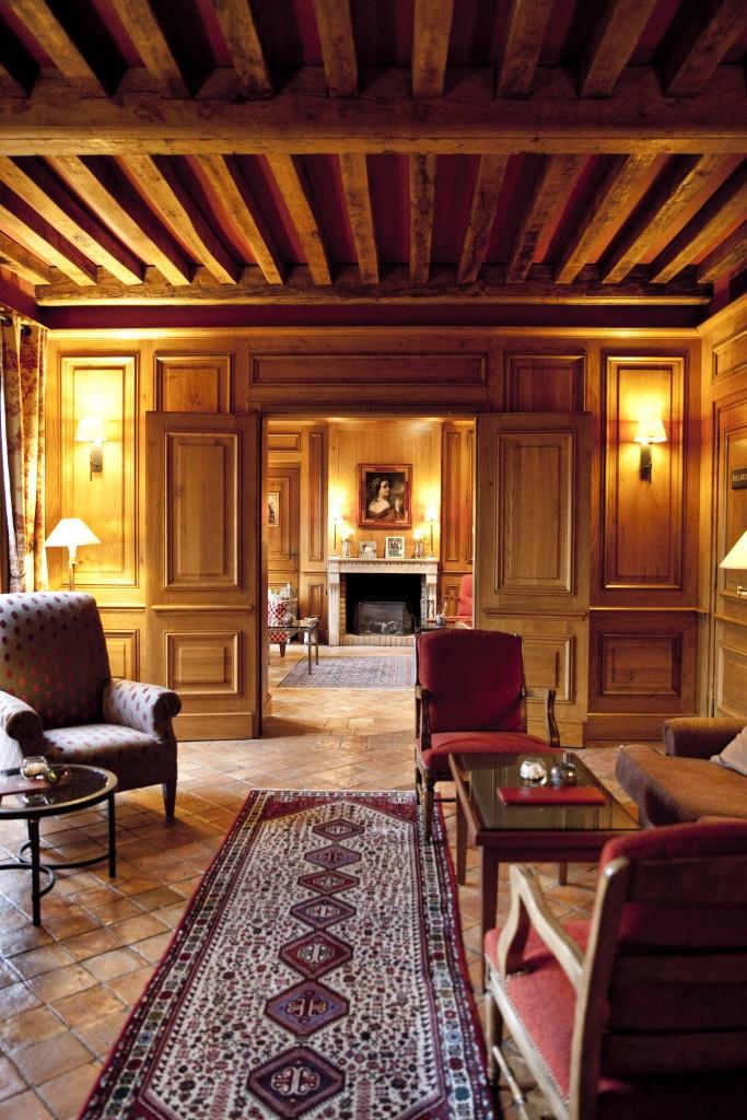 Relais Bernard Loiseau Intérieur salon @Anne Demay 1