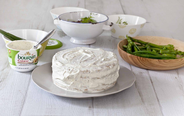 L'étape 4 de ma recette de sandwich cake aux crevettes