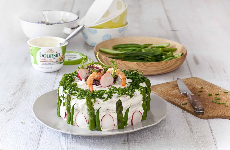 Les téapes de la recette du sandwich cake aux crevettes