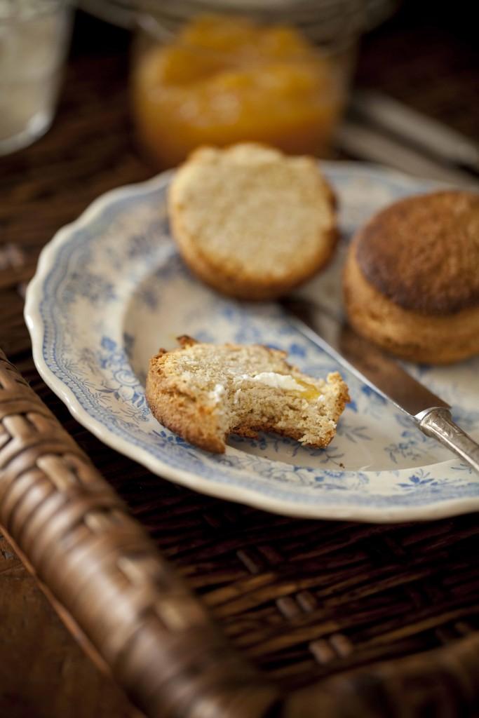 Scone à la farine T80, fairne de kamut et miel. La recette ai bicarbonate de soude.