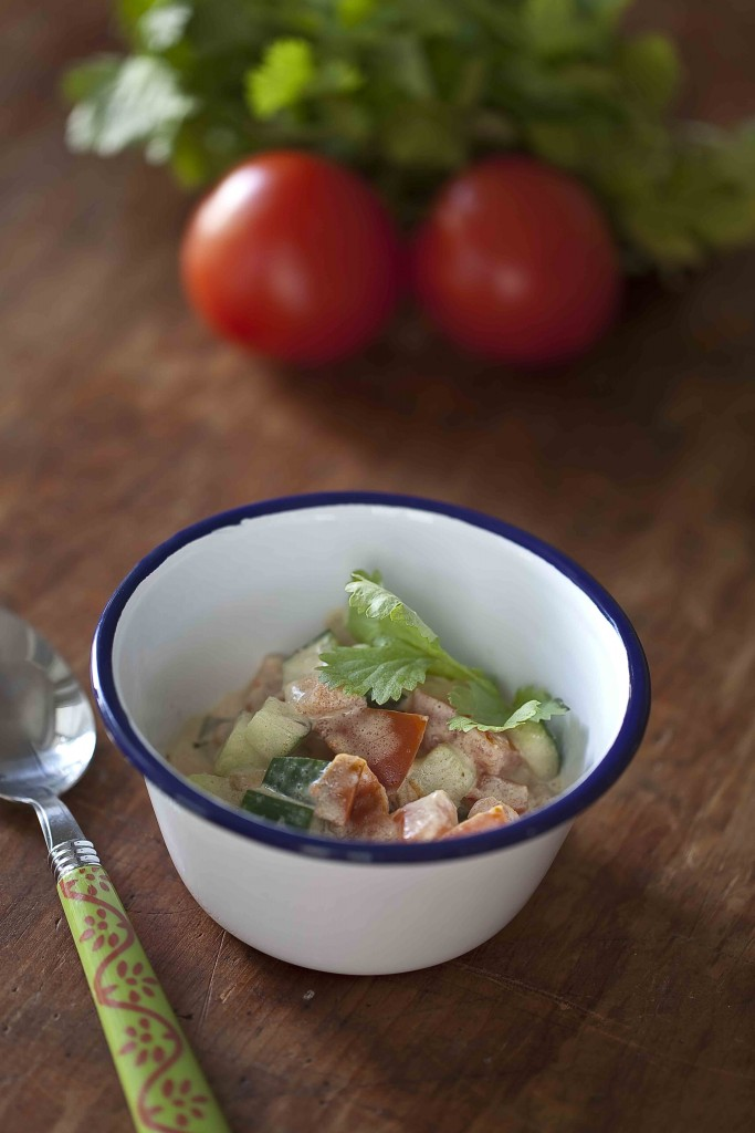 Curry express thaï de tomates et concombres c
