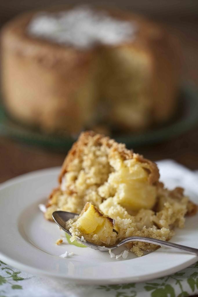 Gâteau à l'ananas et à la noix de coco léger 1c