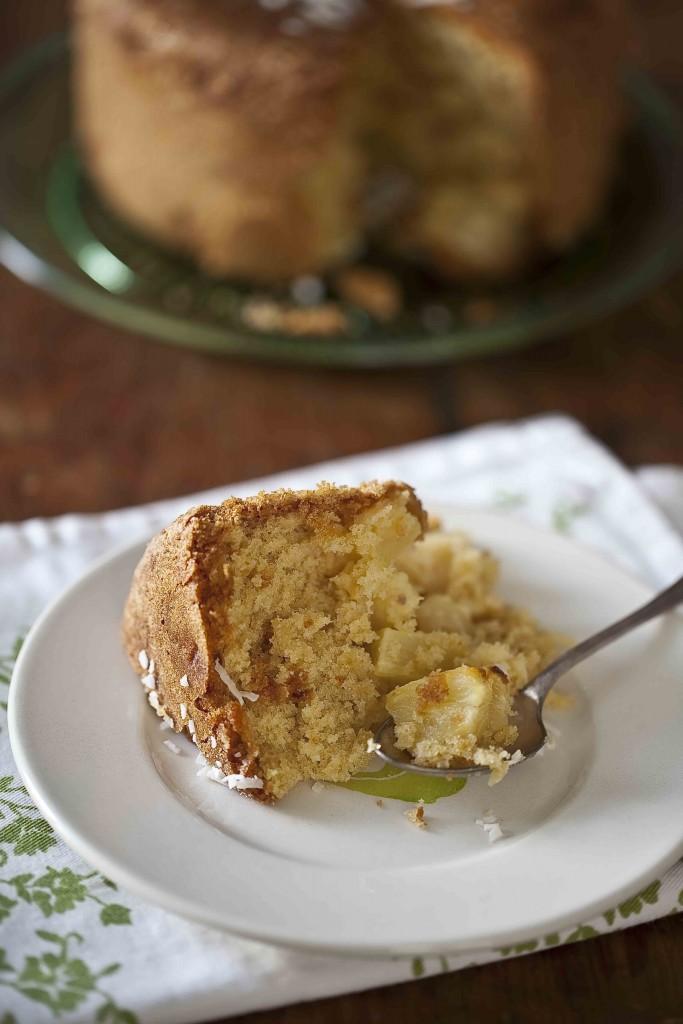 Gâteau à l'ananas et à la noix de coco léger 2c