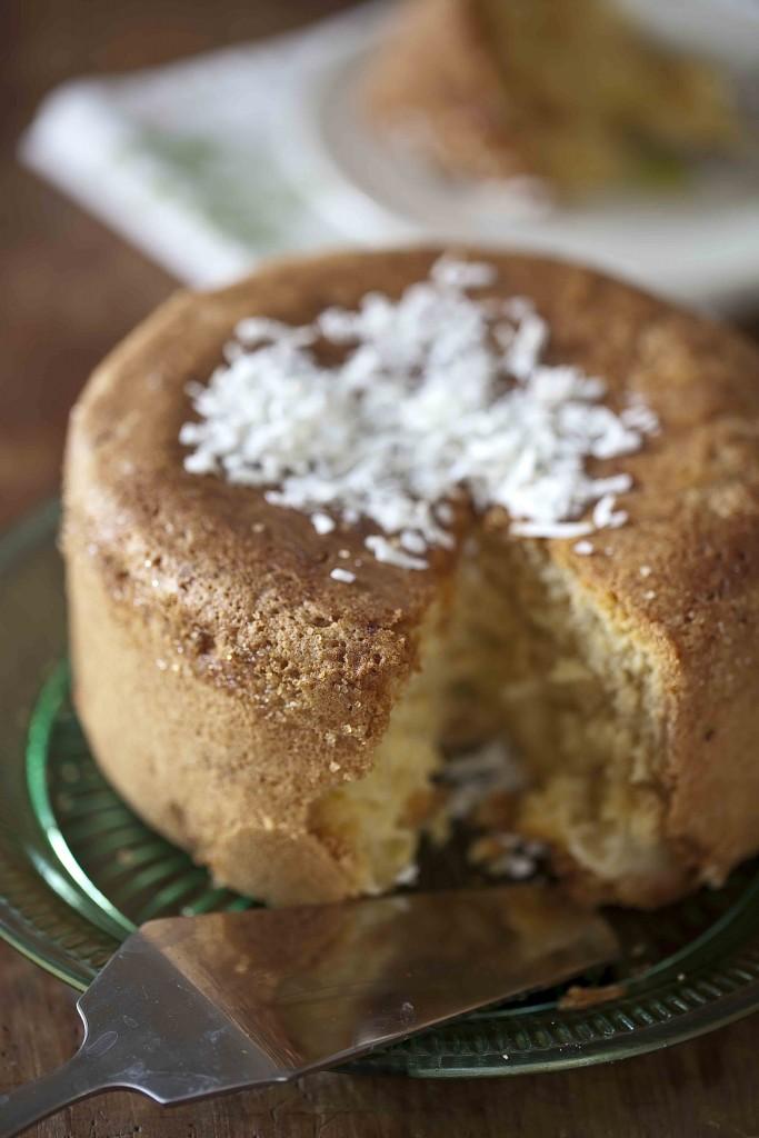 Gâteau à l'ananas et à la noix de coco léger 3c