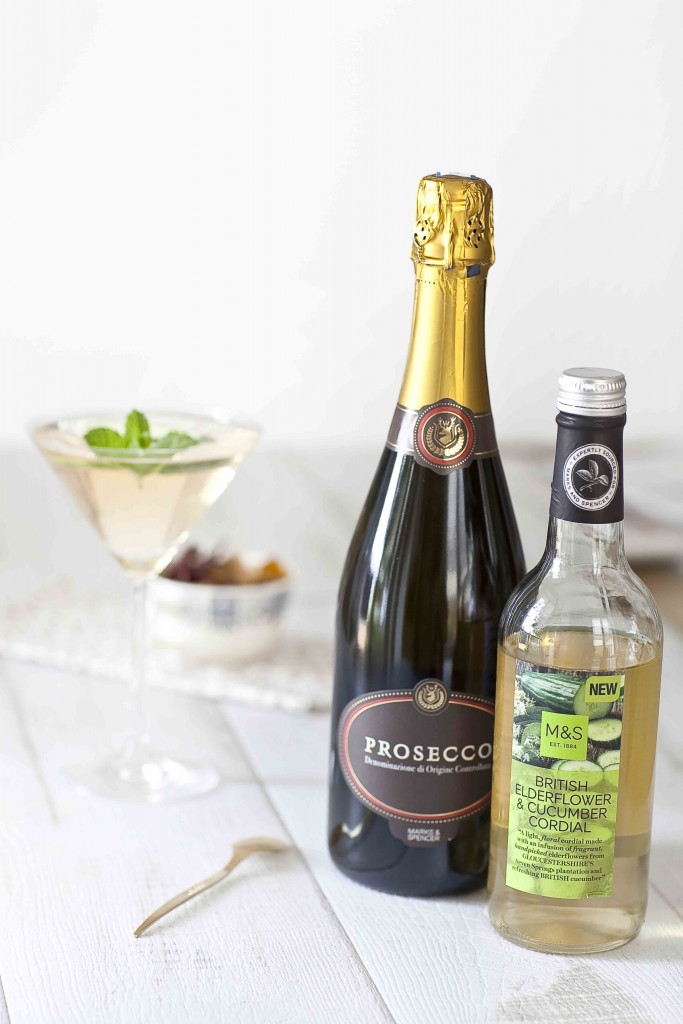 Marks&Spencer Elderflower cucumber cordial et prosecco 1