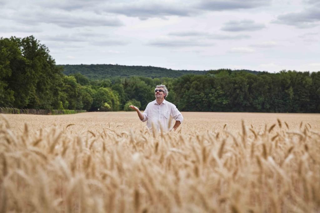 Jeff et la pluie au milieu des blés Domaine de Chamarande c