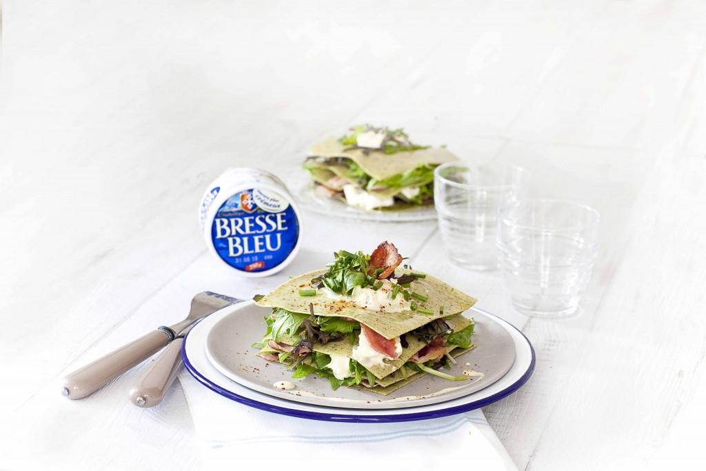 Lasagnes salade au Bleu de Bresse 1c
