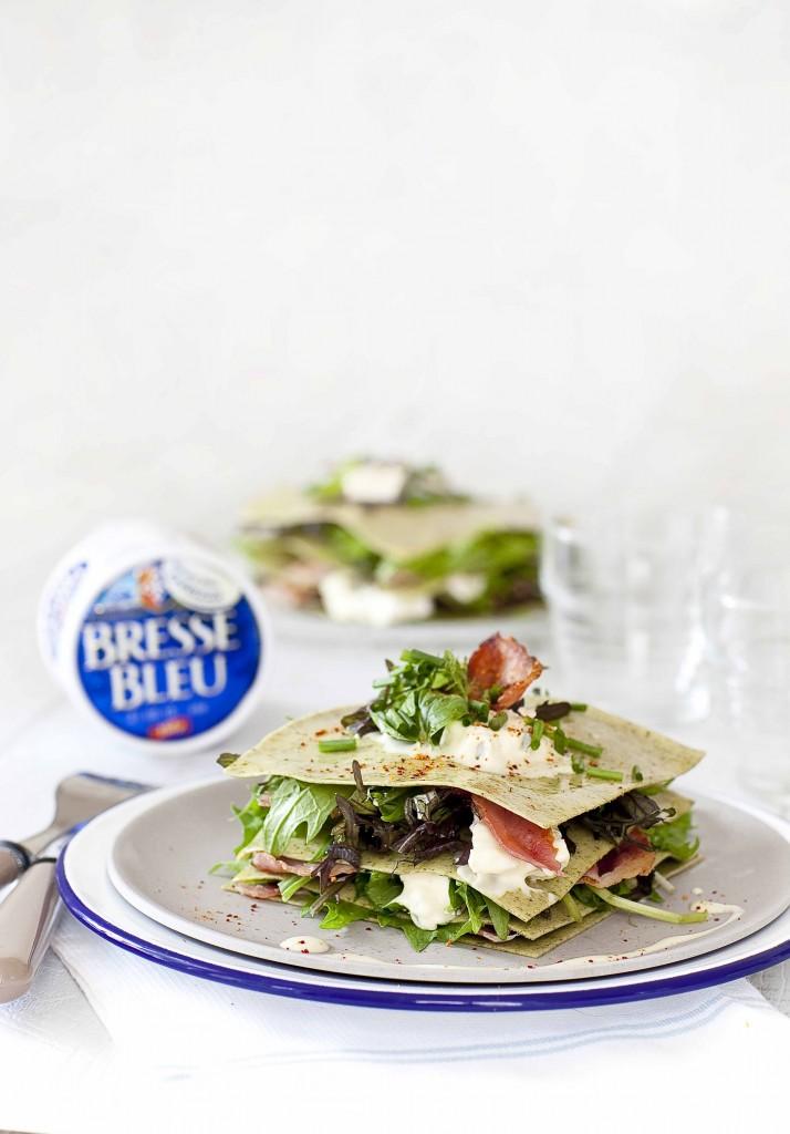 Lasagnes salade au Bleu de Bresse 2c
