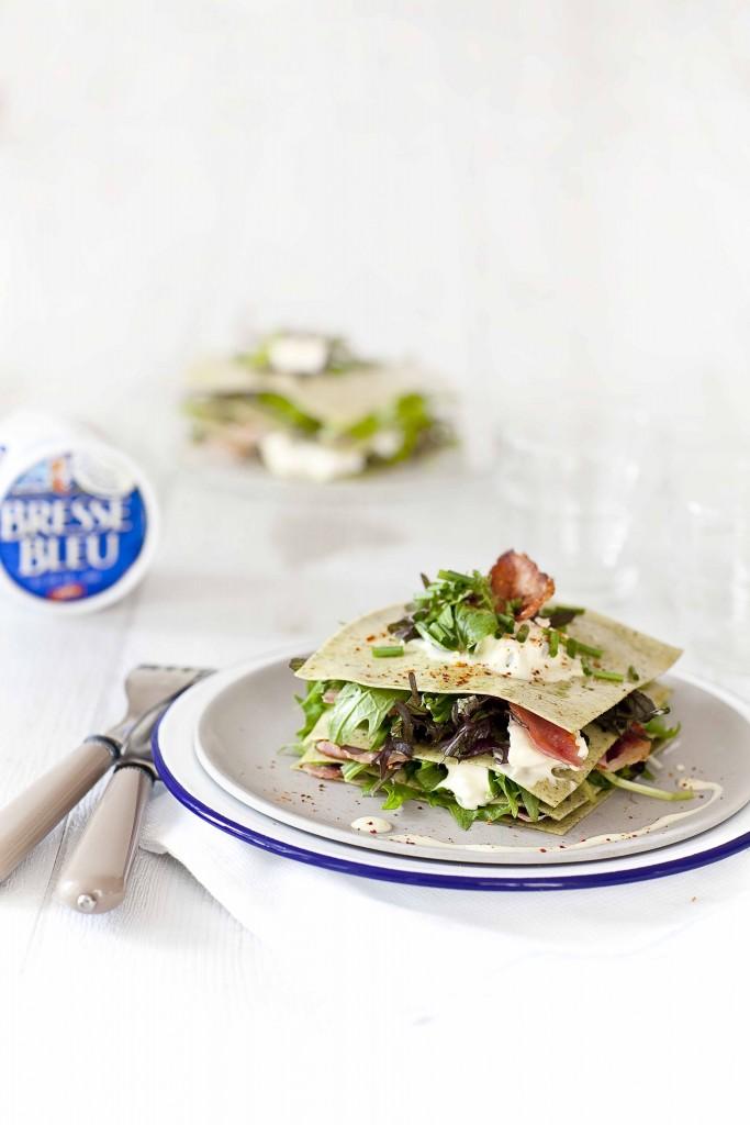 Lasagnes salade au Bleu de Bresse 3c