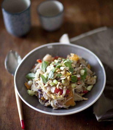 Pad Thaï aux crevettes la recette