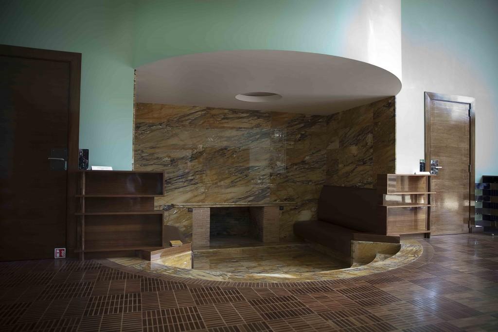 Villa Cavrois, la cheminée du salon