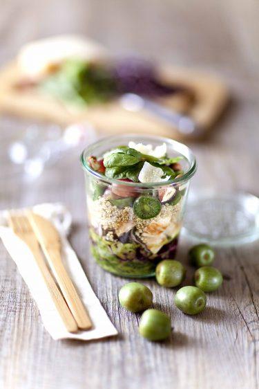 Salade jar au quinoa et au mini kiwi ou kiwaï