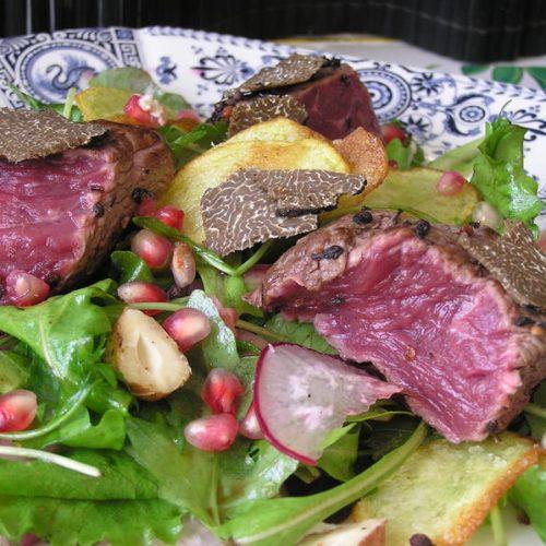 Ma recette facile et rapide de salade de boeuf aux truffes de Bourgogne
