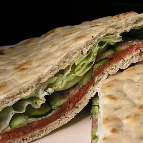 Sandwich au saumon type suédois