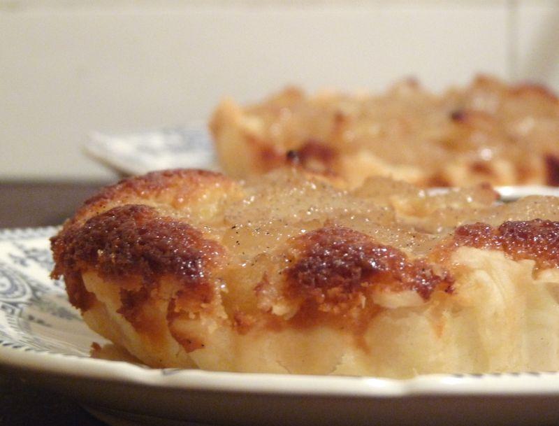 Tartelettes aux poires Bourdaloue
