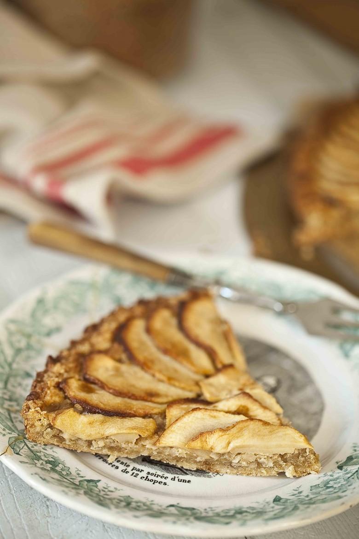 Tarte aux pommes Reinettes de Normandie et à la noix de coco 3c