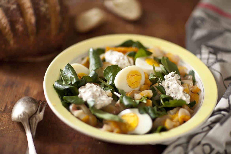 Salade de cresson au haddock 1c