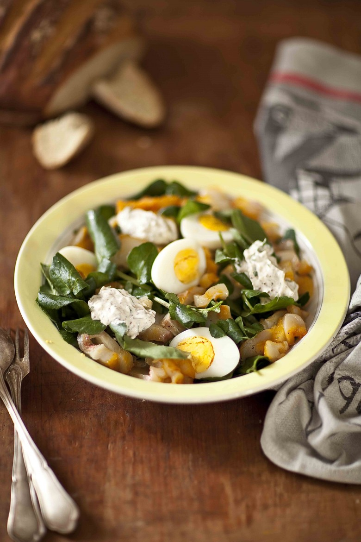 Salade de cresson au haddock 2c