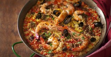 recette facile de paella terre mer