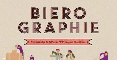 Couverture du livre d'Elisabeth Pierre et Anne-Laure Pham, Biérographie, illustrations Mélody Denturck
