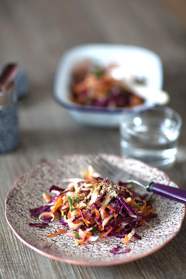 Salade vitamines d'hiver chou, endives, carottes©AnneDemayReverdy01
