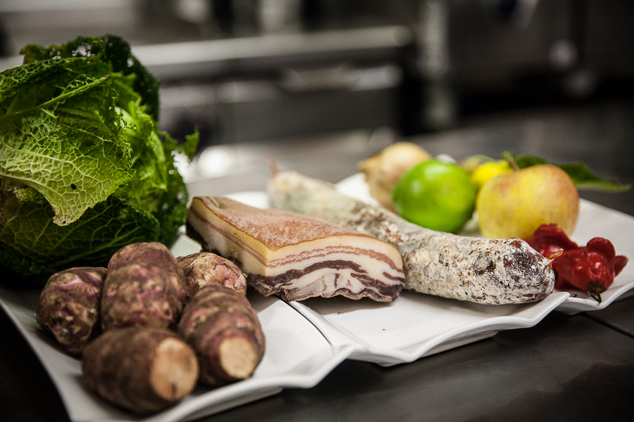 les ingrédients d'une recette de Sébastien Rémy du restaurant l'Angle Saint Laurent à Bayeux