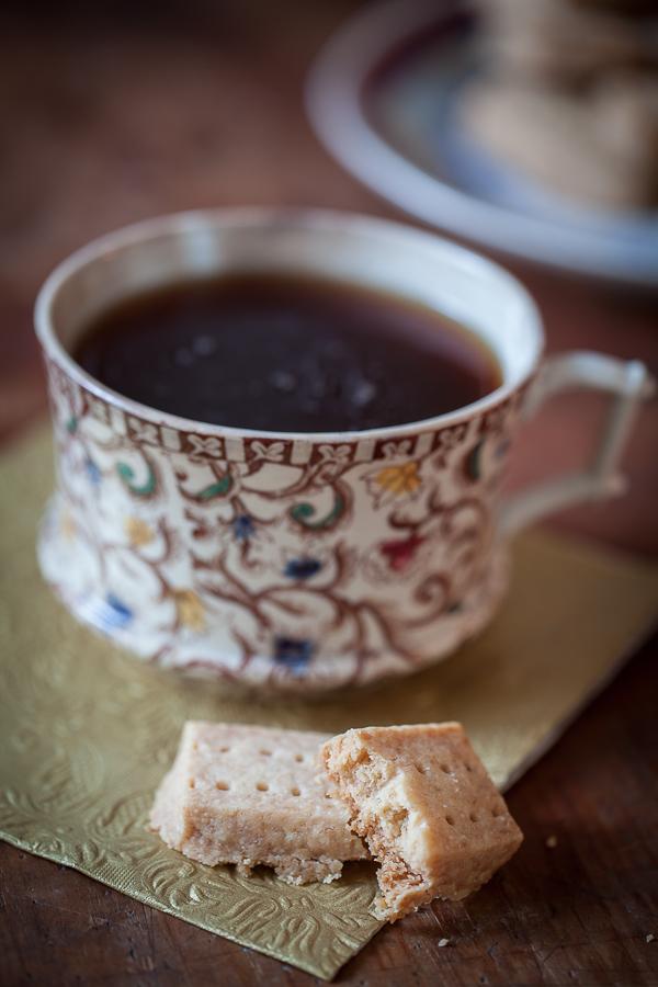 Tasse de thé et shortbread, la recette du biscuit sablé écossais