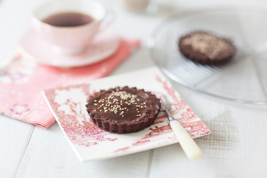 Tartelette choco café sésame01