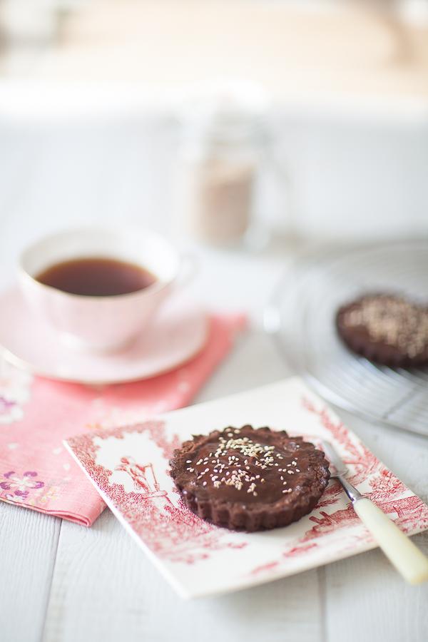 Tartelette choco café sésame02