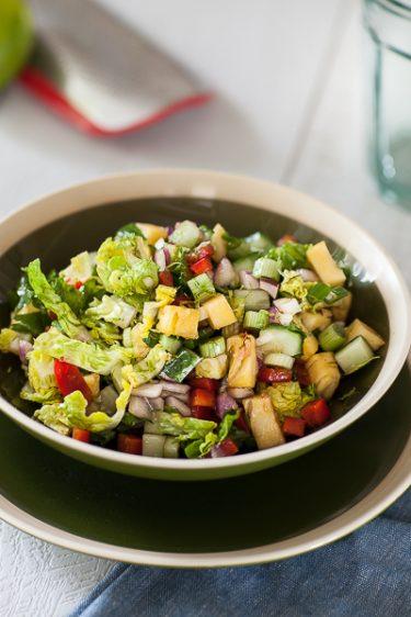 Salade bowl au concombre et à l'ananas, ma recette
