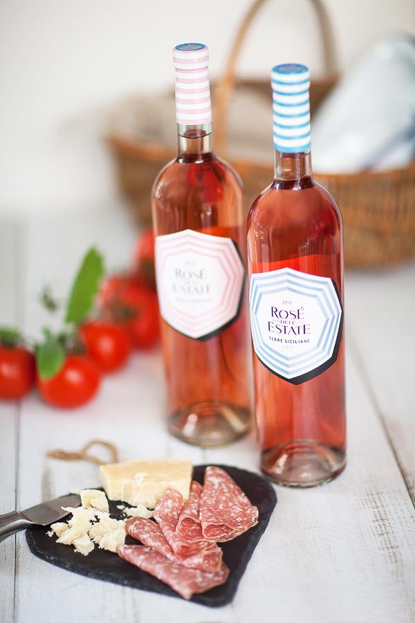 Rosé de l'Estate vin rosé de Venitie et vin rosé de Sicile